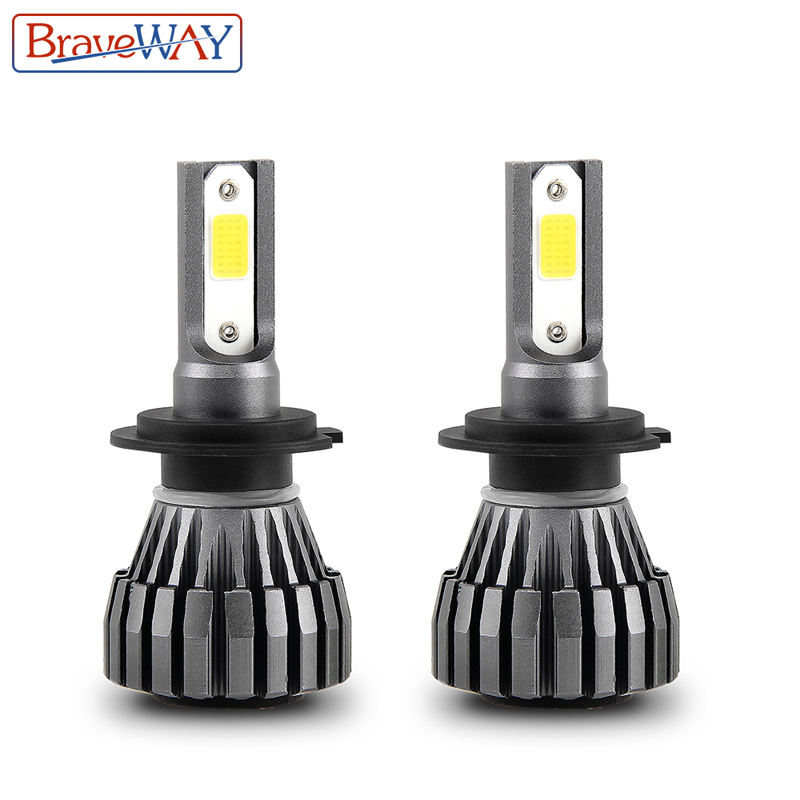 BraveWay Led Light For Auto H4 9005 9006 HB3 HB4 Small Size Led Bulbs For Cars H4 Headlight Auto Led Lamp H4 LED Headlamp
