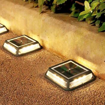 12led kwadratowa słoneczna lampa gruntowa zewnętrzna wodoodporna oswietlenie ogrodu słonecznego podjazd ścieżka lampa do wkopania Patio podłoga trawnik Deck lampa tanie i dobre opinie Thrisdar CN (pochodzenie) ROHS Podziemne lampy Żarówki led 1 Year Klin SOLAR IP65 Solar Buried Ground Underground Lights