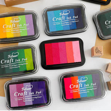 5 Color Gradient Color Inkpad Finger Painting Inkpad Stamps for Scrapbooks Photo Albums  DIY Decorative