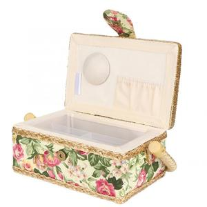 Household Fabric Craft Handmade Sewing Basket Thread Needle Storage Box Organizer Hanging Basket Sewing Accessories