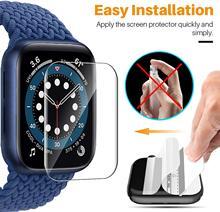 Película HD para el reloj de Apple Protector de pantalla 44mm 40mm 42mm 38mm iWatch Protector accesorios para Apple Watch Serie 3 4 5 6 se