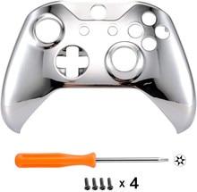 Für Microsoft Xbox One S & Xbox One X Controller Chrom Silber Auflage Vor Gehäuse Shell Fall Abdeckung Frontplatte Ersatz