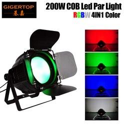 Freeshipping 200W cob o wysokiej mocy Led lampa par RGBW 4w1 mieszanie kolorów z Barndoor DMX512 sterowanie dźwiękiem/Auto/instrukcja Tyanshine|Oświetlenie sceniczne|   -