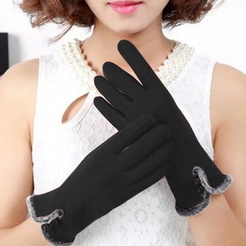 Women's Touch Screen Gloves Winter Tactical Gloves Warm Non-reflective Fleece Windproof driving gloves women image