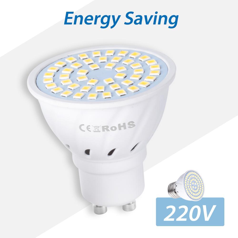LED Lamp E27 Spotlight E14 Bombillas GU10 LED Bulb MR16 220V Spot Light 48 60 80leds Corn Bulb GU5.3 Ampoule B22 Lighting 2835