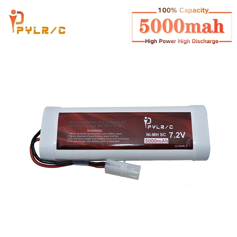 SC*6 Cells <font><b>7.2V</b></font> 5000mAh 15c can Rechargeable Ni-MH Battery Pack with 2P <font><b>Tamiya</b></font> Plug for RC Remote control toys RC Cars Battery image