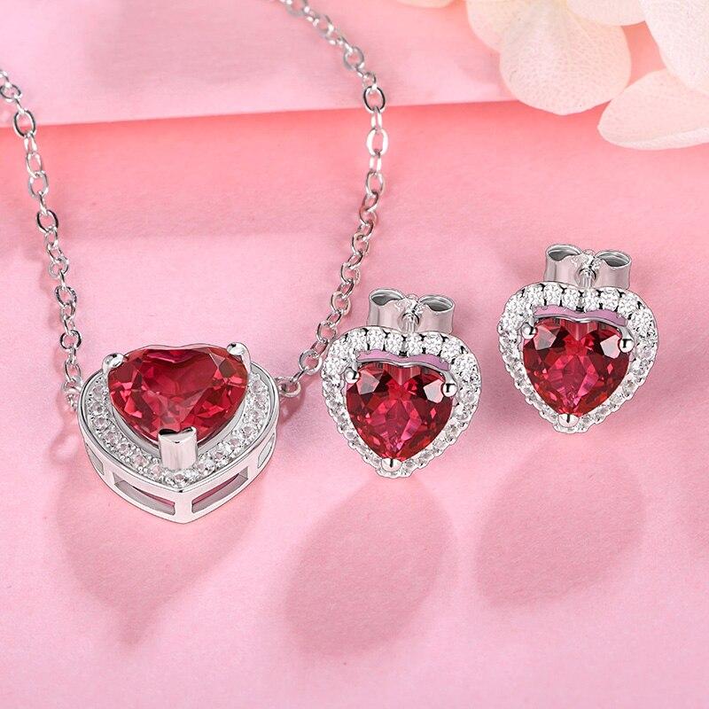 Ruby Jewelry Set
