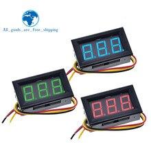 0.56 inç Mini kırmızı yeşil mavi LED ekran paneli gerilim metre voltmetre ev kullanımı gerilim 3 üç dijital DC 4.5V 30V 2 / 3 teller