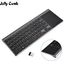 Gelatina Pettine Tastiera Senza Fili con Il Numero Touchpad per PC Notebook Smart TV YR Sottile USB Wireless Mini Tastiera Spagnolo Russo