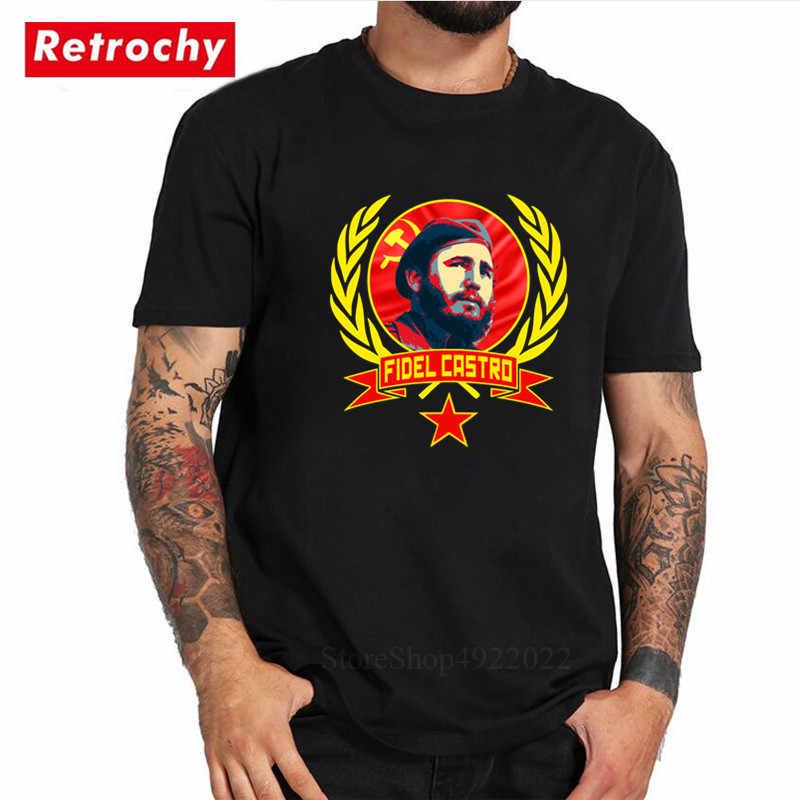 Kubanischen Führer Coole Epic Druck Fidel Castro T Hemd 100% Baumwolle Kuba Casual Männer Hipster T-shirts Kommunistischen Party T-shirt Streetwear
