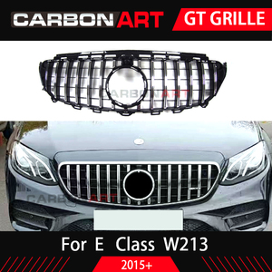 Image 2 - W213 GT GrilleสำหรับMb W213 ด้านหน้ากันชนGT Grill Fit E CLASS W213 C238 E200 E250 E300 E320 E350 2016 2018 Front Grille