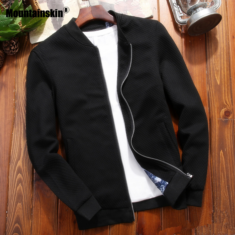 Mountainskin Men's Casual Jacket Autumn Spring Thin Zipper Coat Fashion Solid Slim Fits Jacket Male Brand Clothing M~4XL SA816