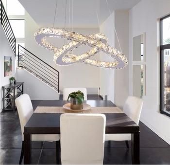 Ring Modern Crystal luxury Chandelier Glass K9 Nordic Led Hanging Lights Hang lamp Lighting Fixtures Lustre Ceiling