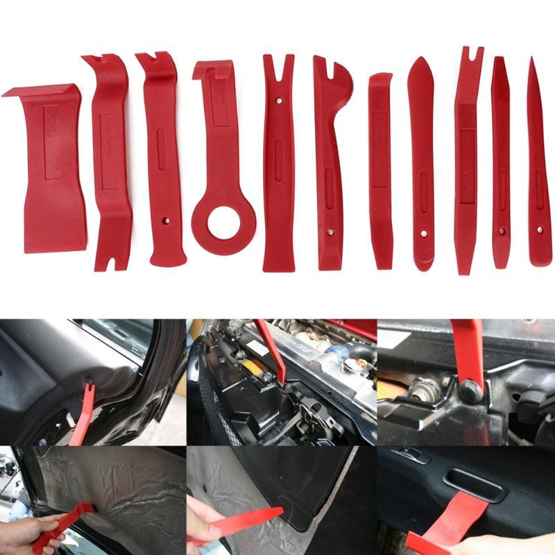 11 pz/set Auto Trim Rimozione Della Leva di Apertura Kit Per Auto Dash Radio Door Trim - 5