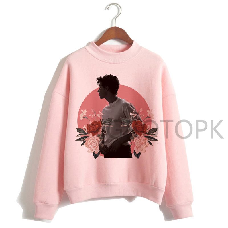 Oversized Sweatshirt Shawn Mendes Women Ulzzang Long-Sleeve Hip-Hop Autumn 90s Female