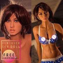 166 سنتيمتر (5.45ft) كامل سيليكون دمية جنسية للكبار صغيرة الثدي فتاة اسباني مع شخصية ضئيلة لينة الجلد مرنة الهيكل العظمي لعبة الجنس