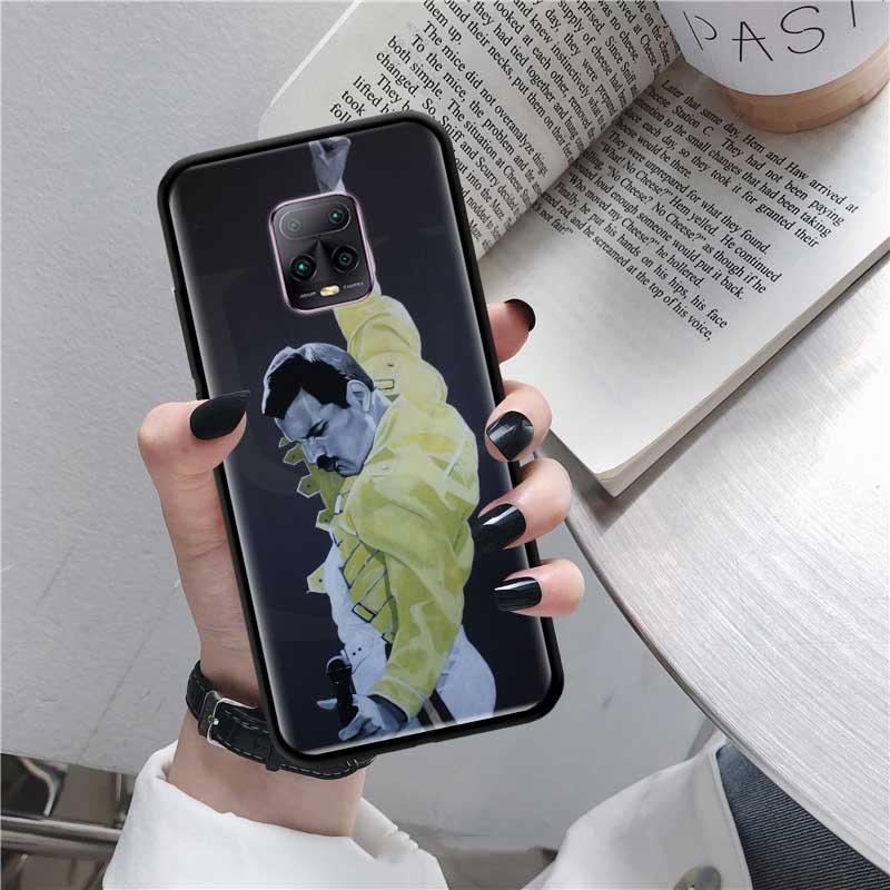 Black Tpu Capa For Xiaomi Redmi Note 8 9S 8T 9 7 10X 5G K30 Pro Zoom 7A 8A K30i Coque Phone Cases Freddie Mercury Queen Band