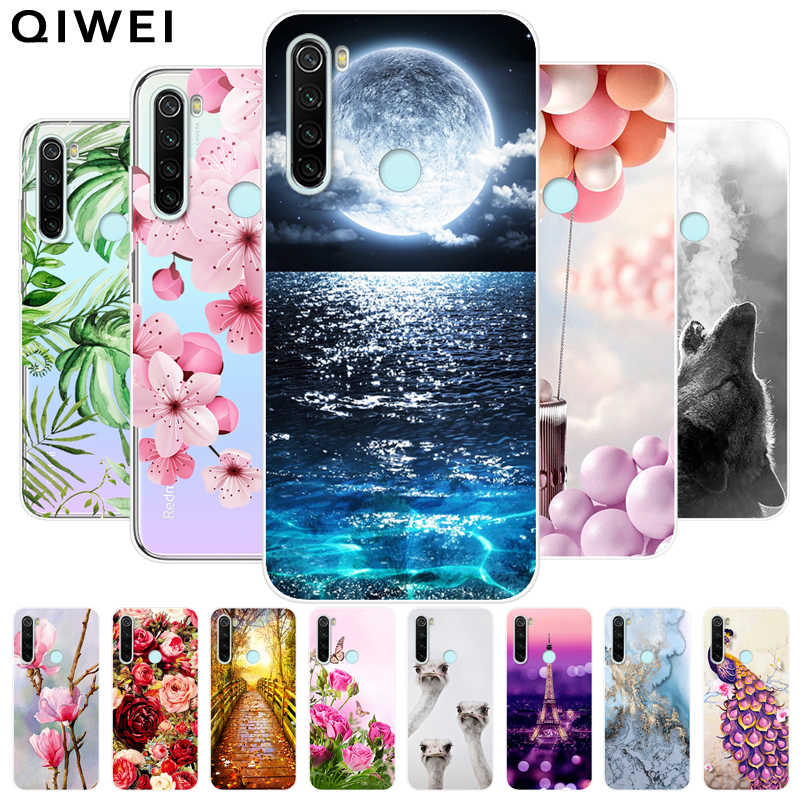 For Xiaomi Redmi Note 8T Case Slim Flower Print Soft TPU Silicon Cases For Xiaomi Redmi Note 8 Pro Note8 Note8T Phone Back Cover