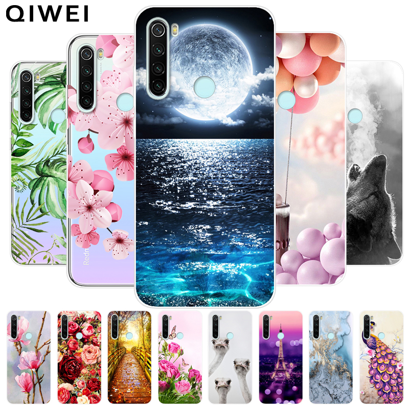 For Xiaomi Redmi Note 8T Case Slim Flower Print Soft TPU Silicon Cases For Xiaomi Redmi Note 8 Pro Note8 Note8T Phone Back Cover(China)