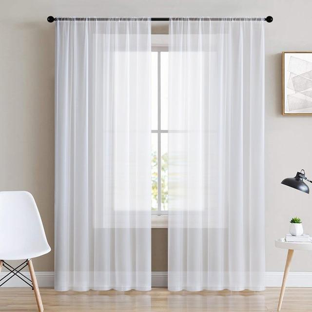 Белая занавеска - тюль LISM для гостинной, спальни, кухни  4
