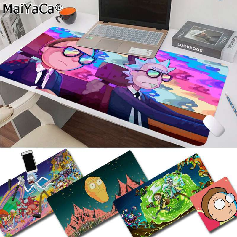 MaiYaCa Non Slip PC Rick And Morty Keyboards Mat Rubber Gaming Mousepad Desk Mat Free Shipping Large Mouse Pad Keyboards Mat