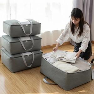 Thickened Non-woven Quilt Storage Bag Clothes Storage Box Travel Portable Storage Box Folding Closet Organizer ForPillow Blanket