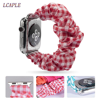 Scrunchie Strap for apple watch 5 band 44mm 40mm women belt watchband bracelet apple watch series 5 4 3 iwatch band 38mm 42mm 38