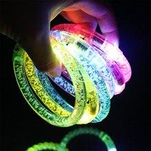 Светодиодный светящийся браслет светильник светящийся браслет светящиеся игрушки для детей светится в темноте juguetes светящиеся кольца браслет