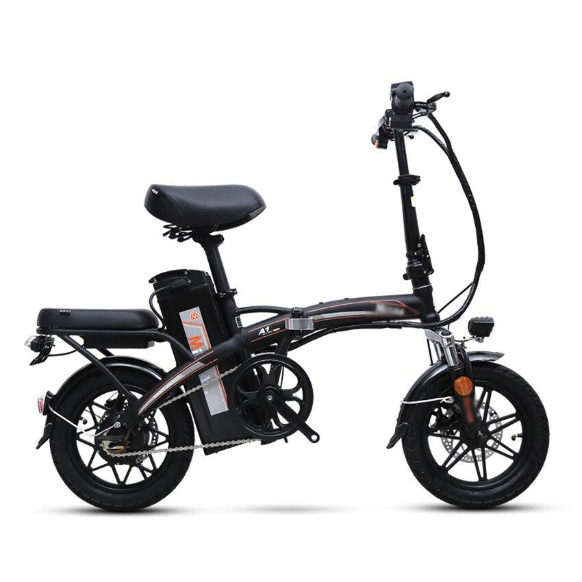 Mini Bike Folding Electric Bike 14inch Wheel Motor E Bike Electric Bicycle Scooter 48V Lithium Battery
