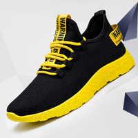 Men Sneakers 2019 New Breathable Lace Up Men Mesh Shoes Fashion Casual No-slip Men Vulcanize Shoes Tenis Masculino