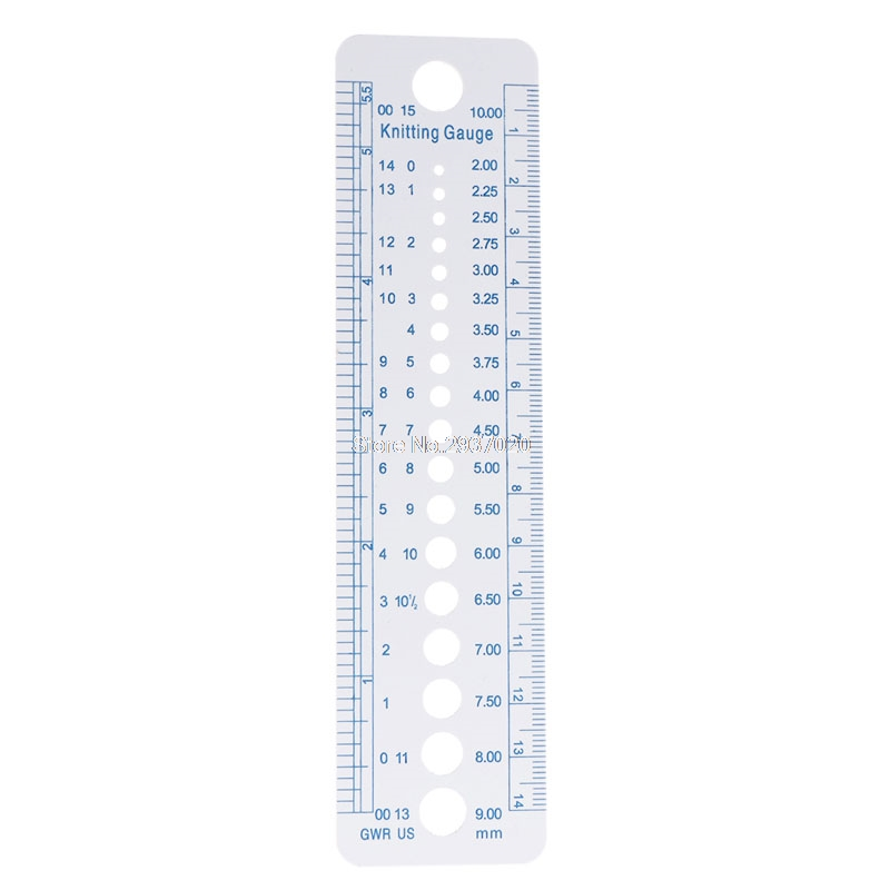 Kintting Gauge Ruler Measuring Tool Plastic Blue Line Soft Strong Durable Au13 19 Droship