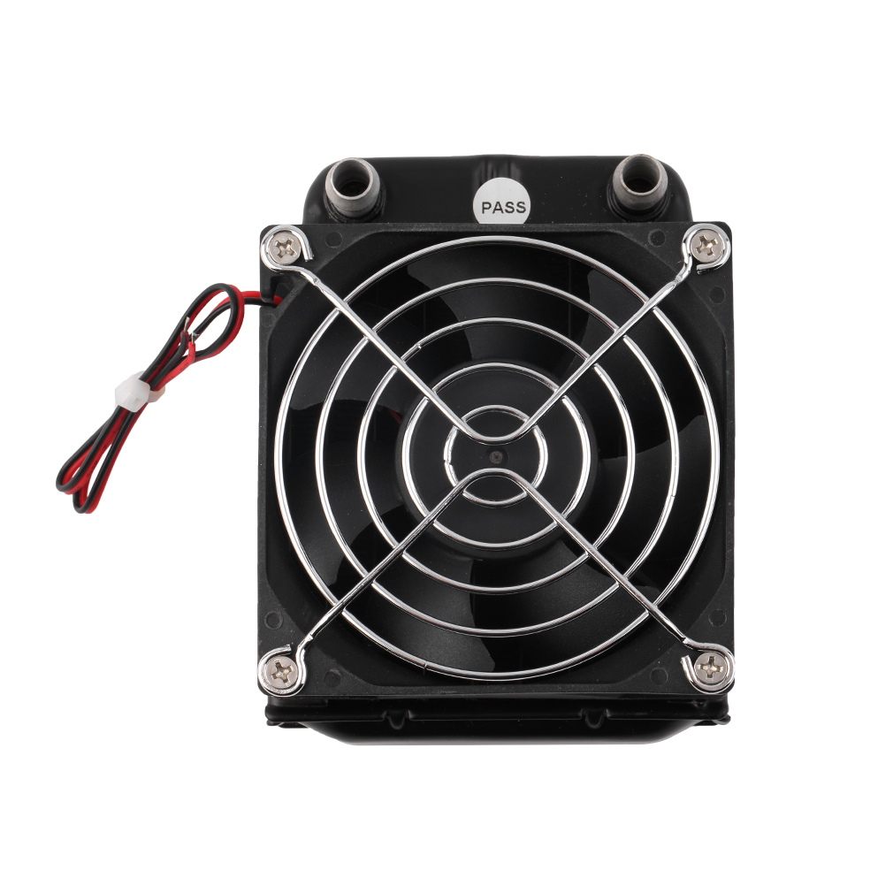 2017 Newest Aluminum 80mm Water Cooling Cooled Row Heat Exchanger Radiator+Fan For CPU PC Eletronic Hot