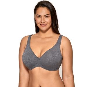 Image 2 - Для женщин Бесшовные полный охват косточках без подкладки размера плюс Бюстгальтер Minimizer