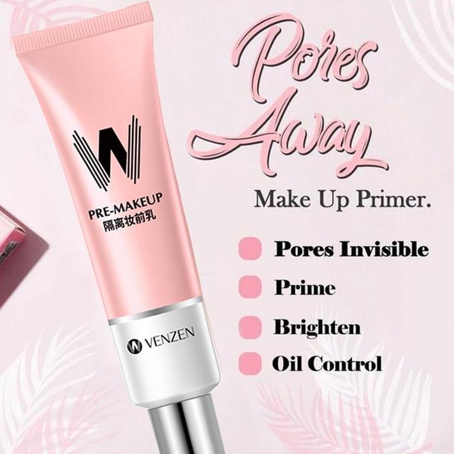 Long Lasting Face Primer Makeup Base Concealer Nature Rose Essence Pore Away Foundation Oil Control Facial Matte Primer Korean 1