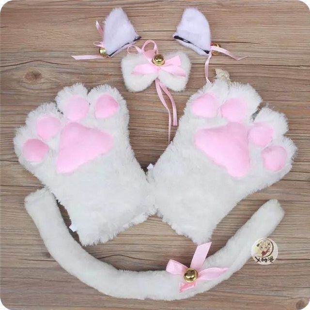 Anime Cat Paw Ear Tail Tie...