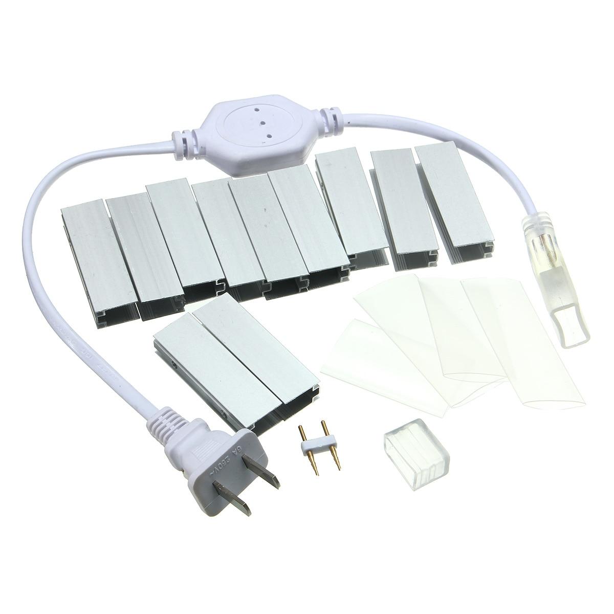 Возможностью погружения на глубину до 30 м Светодиодные ленты 110V 2835 IP67 Водонепроницаемый Гибкая светодиодная неоновая лента веревка штепсельная вилка американского стандарта полосы света открытый светодиодный освещение - 3