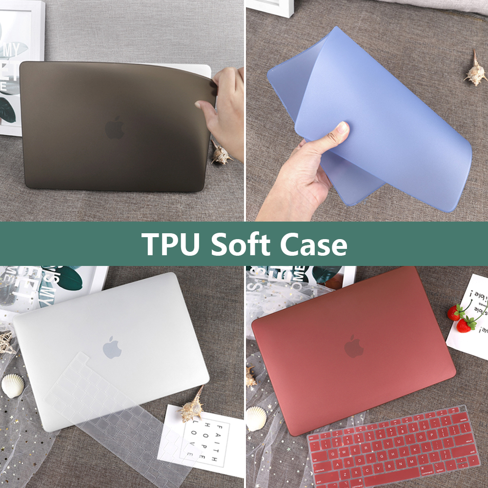 Ultra-fino TPU Caso Macio Para MacBook Air 13 2020 2019 A2179 A1932 Toque ID Pro 13 A2338 M1 A2289 A2159 A1706 Pro 16 A2141Cover