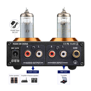 Image 3 - AIYIMA HiFi Vacuum 6A2 Tube MM Phono Preamplifier Vinyl Record Player Stereo Tube Preamp Amplifier Turntable Phonograph DIY 12V