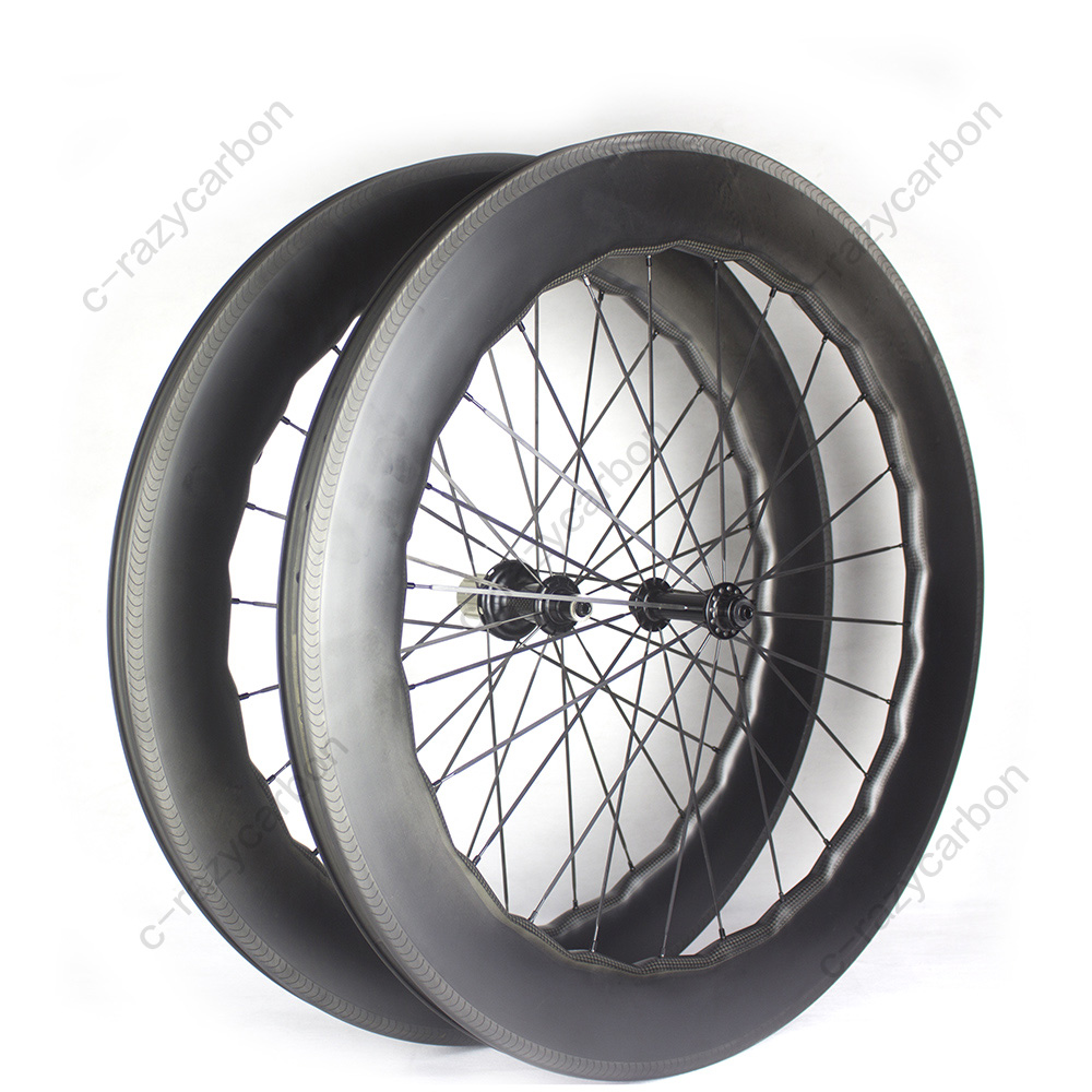 Free Shipping Aerodynamic Sawtooth Weave Wheels 80mm Free Shipping Carbon Rims 700C Road Bicycle for Road Carbon Wheelset