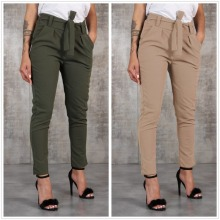 цены New Fashion Wild Waist Bow Casual Pants High Waist Full Length Skinny Drawstring Pencil Pants Pockets Solid Women Casual Pants