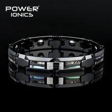 Магнитный браслет power ionics черный керамический из натуральной