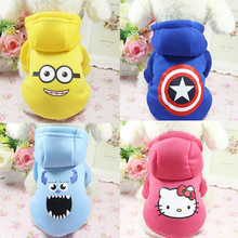 CAIIWE Captain Dog Clothes Winter Warm Pet Dog Cartoon Jacket Coat Puppy Chihuahua Clothing Hoodies Dogs Puppy Yorkshire Outfit