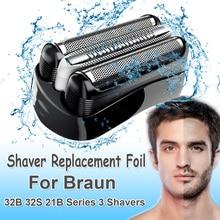 Cabezal de lámina de repuesto para afeitadora Braun 32B 32S 21B para Cruzer6 Series 3 301S 310S 320S 360S 3000S 3010S 3020S 350CC