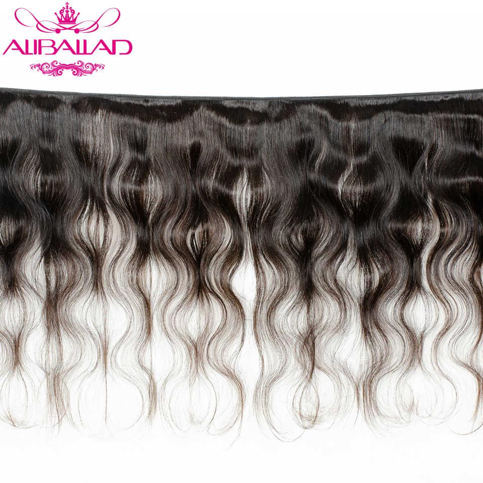 Aliballad ברזילאי שיער Weave חבילות גוף גל שיער 4 יח'\חבילה רמי שיער הרחבות צבע טבעי 100% שיער טבעי אריגה