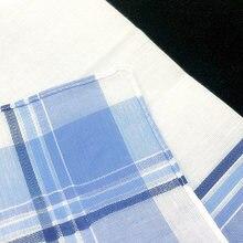 Квадратные носовые платки в клетку из 100% хлопка 40 х40 см