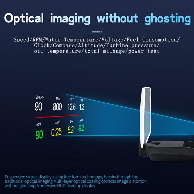 Фото автомобильный hud дисплей gps навигация obd2 дисплей на голову цена