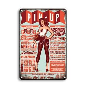 Рок-н-ролл металлическая настенная жестяная вывеска винтажный домашний декор для ванной футбольная булавка для девушки постер оловянные т...