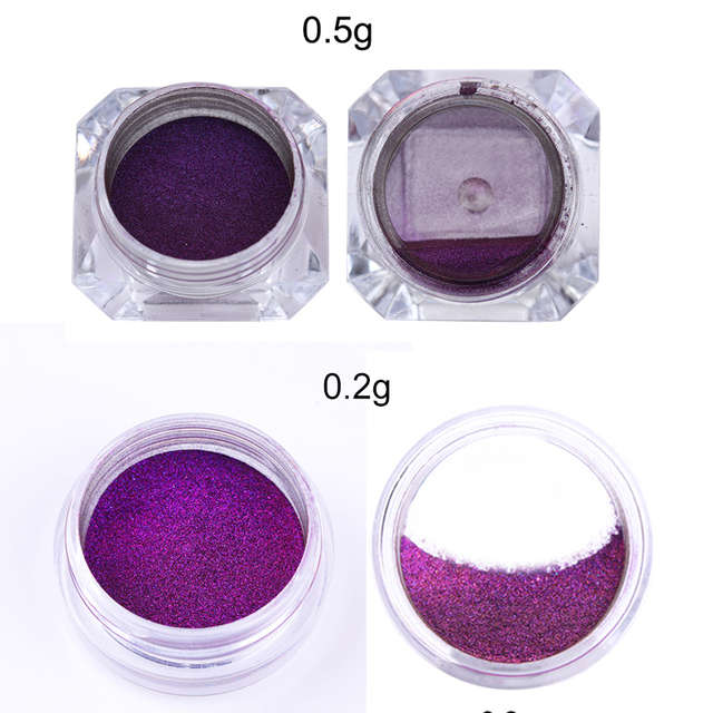 1 Box Chameleonic Mirror Nail Glitters Powder
