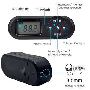 Image 3 - Jinsertaデジタルポケットfmラジオfm: 64 108 470mhzのポータブルfmラジオ受信機とlcdディスプレイネックストラップ3.5ミリメートルヘッドホン