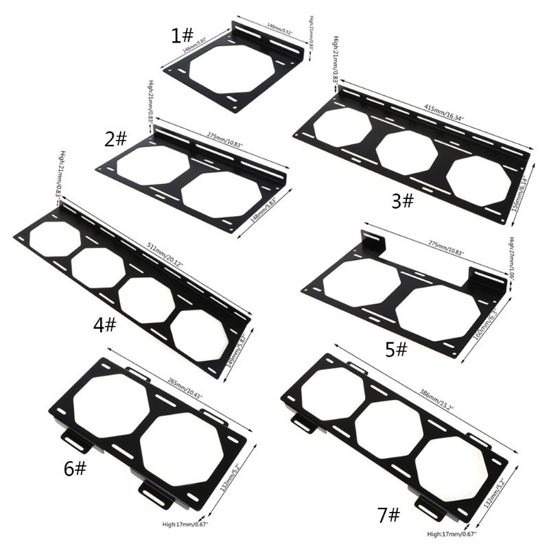 Fan Bracket 240 Radiator Mounting Bracket Water Cooler For 12/14CM Fan Holder External Computer Case Heatsink Gadget Accessories